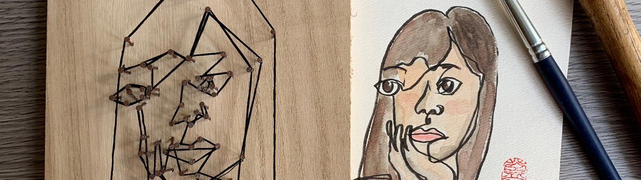 「冇眼睇畫你個樣」工作坊 Blind Drawing Workshop